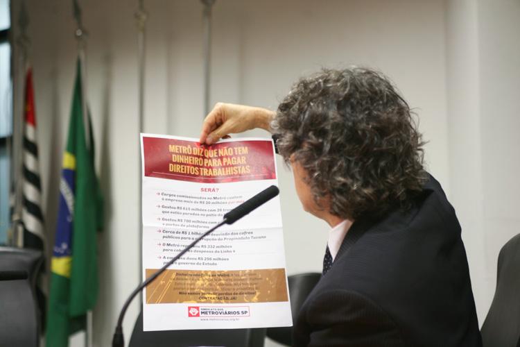 Foto: Sindicato dos Metroviários de São Paulo