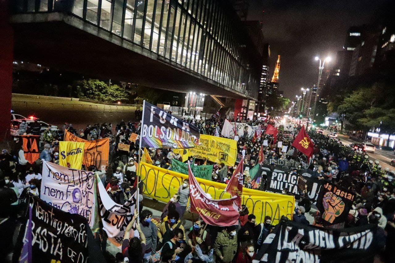 Manifestação na Av. Paulista. Foto: @midaninja