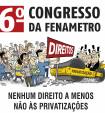 Confira a programação do 6º Congresso da Fenametro
